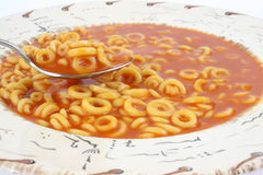 Tomato soup and pasta ring Stock Photography