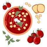 Tomato soup. Pattern of tomato vegetable soup Royalty Free Stock Photography