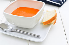 Tomato soup plain and simple Stock Photography