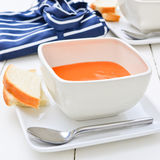 Tomato soup plain and simple Royalty Free Stock Photo
