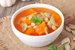 Tomato soup with pumpkin Stock Photos