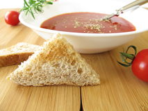Tomato soup with rosemary Stock Photos