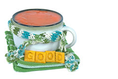 Tomato soup in soup cup Stock Photography