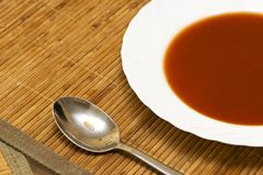 Tomato soup. view from the top Stock Photography