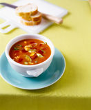Tomato soup with vegetables Stock Images