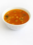 Tomato soup with vegetables Stock Image