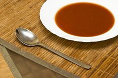 Tomato soup. view from the top Stock Image