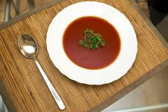 Tomato soup. view from the top Stock Images