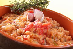 Tomato Soup Whit Onion Royalty Free Stock Image
