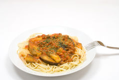 Tomato source spaghetti Stock Photos