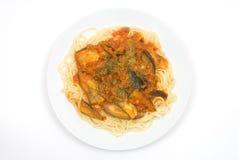 Tomato source spaghetti Royalty Free Stock Photo