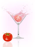 Tomato splash Royalty Free Stock Photography