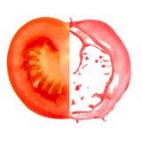 Tomato splash Stock Photo
