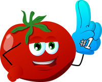 Tomato sports fan with glove Stock Photography