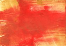 Tomato stained watercolor texture. Hand-drawn abstract watercolor texture. Used contrasting and transient colors Stock Image