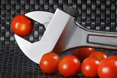 Tomato and steel Stock Photos
