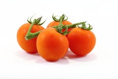 Tomato with stem Royalty Free Stock Image