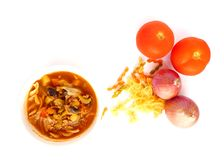 Tomato stew with beef and vegetables Stock Photography
