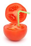 Tomato with straw Stock Image