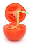 Tomato with straw Stock Image