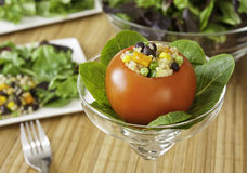 Tomato Stuffed with Quinoa Salad Stock Images