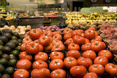 Tomato supermarket grocery store royalty free stock photos