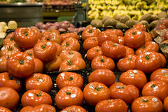Tomato supermarket grocery store stock photo