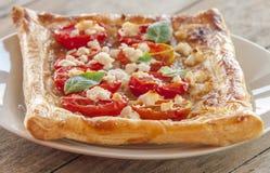 Tomato tart, puff pastry Stock Photo