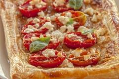 Tomato tart, puff pastry Stock Photos