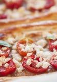 Tomato tart, puff pastry Royalty Free Stock Photos