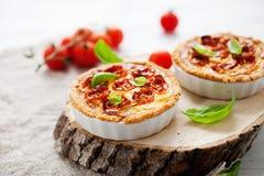Tomato tartlet Stock Photos