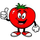 Tomato with Thumbs Up. A vector illustration of a Tomato with Thumbs Up Stock Photo