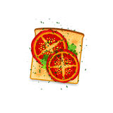 Tomato Toast Royalty Free Stock Photos
