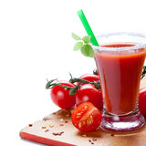 Tomato and tomato juice Stock Photos