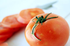 Tomato & tomatoes slices royalty free stock images