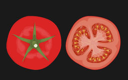 Tomato top view Royalty Free Stock Photography