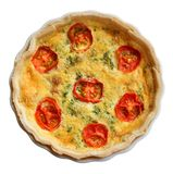 Tomato Topped Quiche Lorraine. Stock Photography