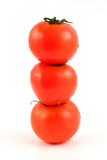 Tomato Tower. Isolated on white background Royalty Free Stock Photos