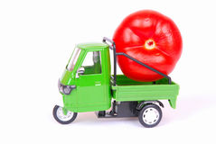 Tomato in transport Stock Photos