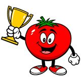 Tomato with Trophy Royalty Free Stock Photography