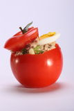 Tomato with tuna salad Stock Photo