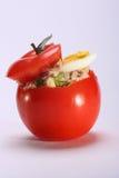 Tomato with tuna salad Stock Photo