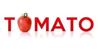 Tomato - typography design Stock Photos