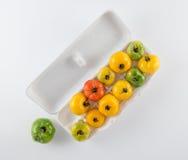 Tomato Variety in Egg Carton Stock Photo