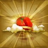 Tomato,  vector background Royalty Free Stock Image