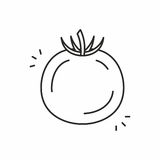 Tomato vector icon Stock Photos