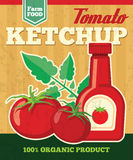 Tomato vector poster in vintage style Royalty Free Stock Images