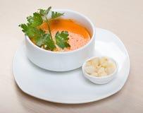 Tomato vegetable cream soup Royalty Free Stock Photo