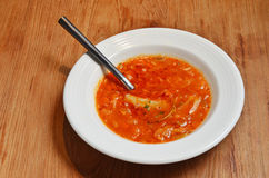 Tomato vegetable soup Royalty Free Stock Images