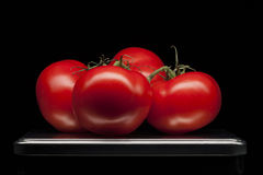 Tomato, vegetable, tray, food, red, , spar Stock Images